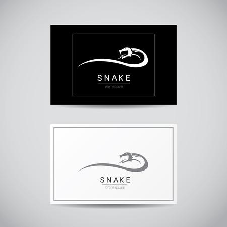 asp: vector snake simple black  design element. danger snake icon. viper symbol
