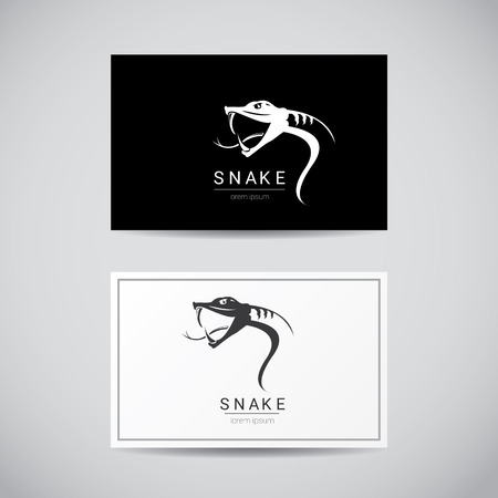 asp: vector snake simple black  design element. danger snake icon. viper symbol