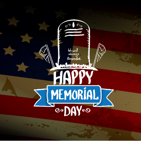 greeting card background: Happy Memorial Day vector background. Memorial day greeting card Illustration
