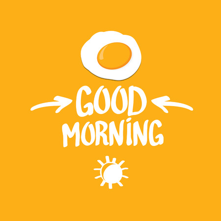 yolk: Fried Egg vector illustration. good morning concept. breakfast fried hen or chicken egg with a orange yolk in the centre of the fried egg. Illustration