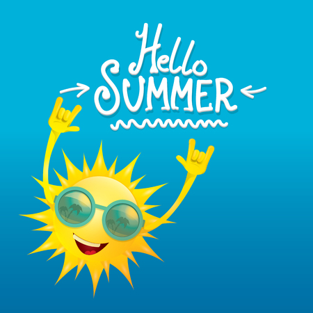 rock n roll: hello summer rock n roll poster. summer party design template