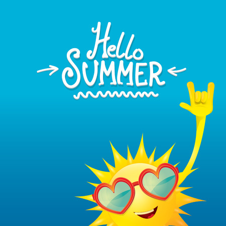 august: hello summer rock n roll poster. summer party design template