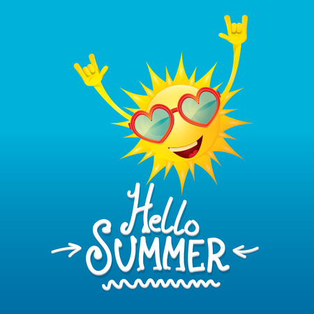 rock n: hello summer rock n roll poster. summer party design template
