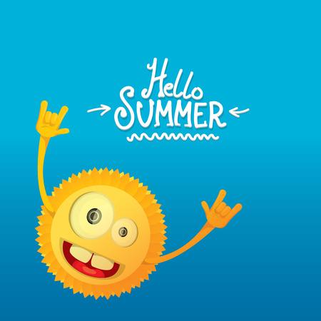 rockstar: hello summer rock n roll poster. summer party design template