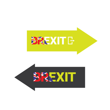 england politics: Brexit Text isolated. United Kingdom exit from europe union vector illustration. Brexit conceptual image