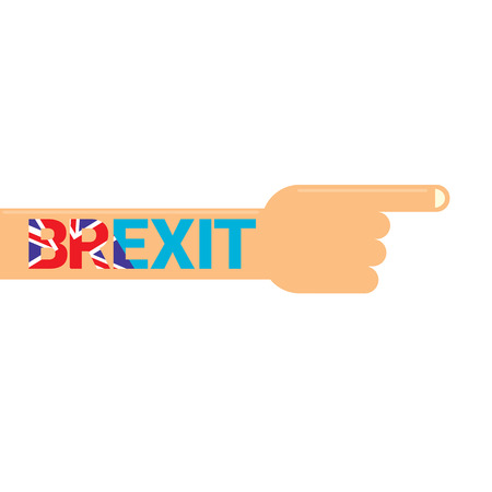 yes or no to euro: Brexit Text isolated. United Kingdom exit from europe union vector illustration. Brexit conceptual image
