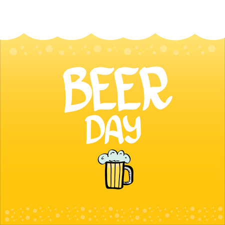 international beer day vector background. orange beer vector layout Illustration