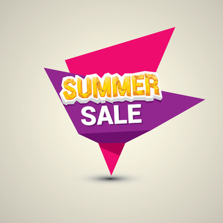 vector summer sale label or sticker. summer clearance. Illustration