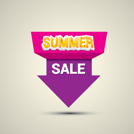 pricetag: vector summer sale label or sticker. summer clearance. Illustration