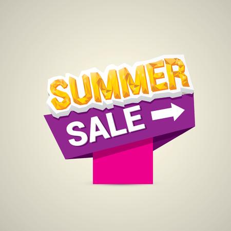 vector summer sale label or sticker. summer clearance. Illustration