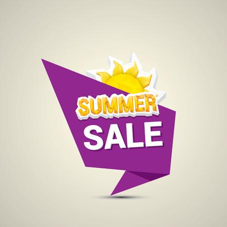 trade off: vector summer sale label or sticker. summer clearance. Illustration