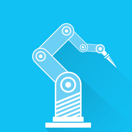 cybernetics: Clean technology background design template. vector robotic arm symbol. robot hand. Illustration