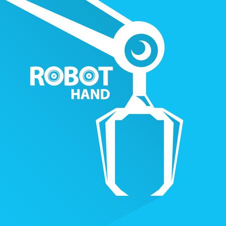 Tecnologie pulite sfondo modello di progettazione. vettore robotico simbolo braccio. robot mano.