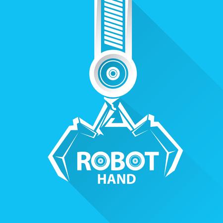 symbol robot: Clean technology background design template. vector robotic arm symbol. robot hand. Illustration
