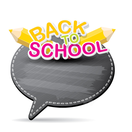 speech bubble vector: Back to school label on speech bubble vector background. back to school vector concept icon illustration. Illustration