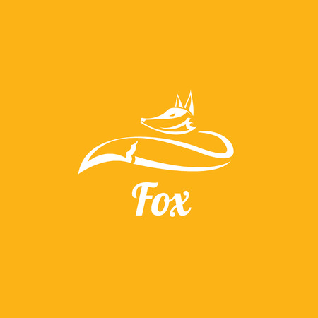 vector fox sign label or tattoo design. simple fox icon
