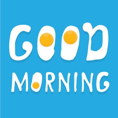 Fried Egg vector illustration. good morning concept. breakfast fried hen or chicken egg with a orange yolk in the centre of the fried egg. Illustration