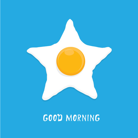 Fried Egg vector illustration. good morning concept. breakfast fried hen or chicken egg with a orange yolk in the centre of the fried egg. Illustration