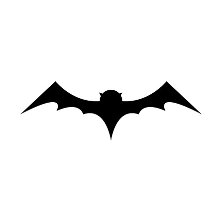 vector halloween bat icon. vector bat silhouette isolated on white