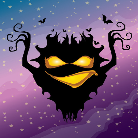 frightening: vector frightening monster. nightmares concept illustration template. fear Illustration