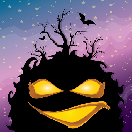 vector frightening monster. nightmares concept illustration template. fear Illustration