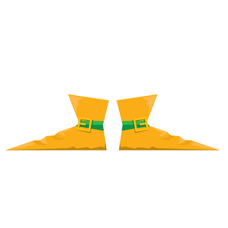 buffoon: cartoon christmas elf shoes. leprechaun boots. vector illustration Illustration