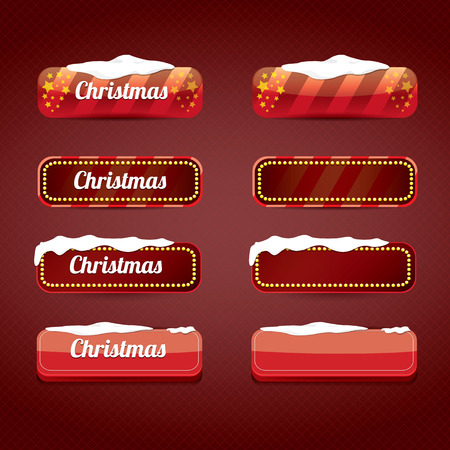 web buttons: Christmas web buttons set. winter web buttons collection