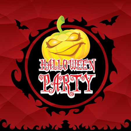 vector happy halloween dark background. vector halloween party poster