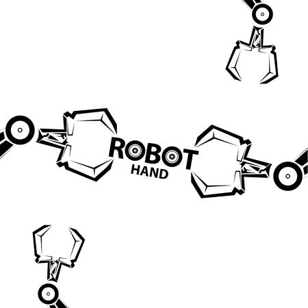 Clean technology background design template. vector robotic arm symbol. robot hand. Illustration