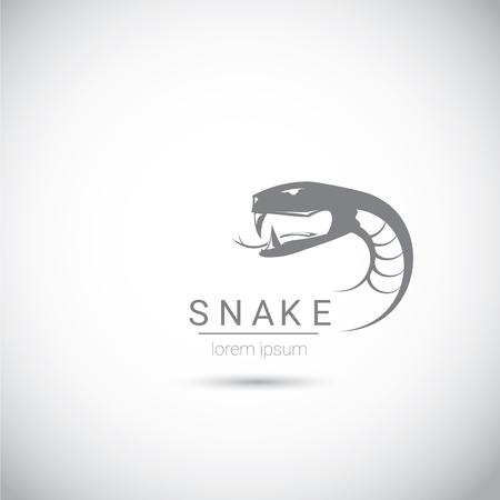 year of snake: vector snake simple black logo design element. danger snake icon. viper symbol Illustration