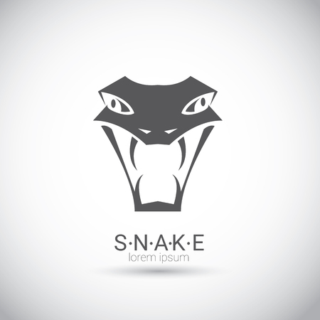 vector snake simple black logo design element. danger snake icon. viper symbol Illustration