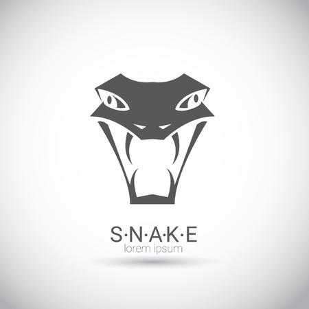snake year: vector snake simple black logo design element. danger snake icon. viper symbol Illustration