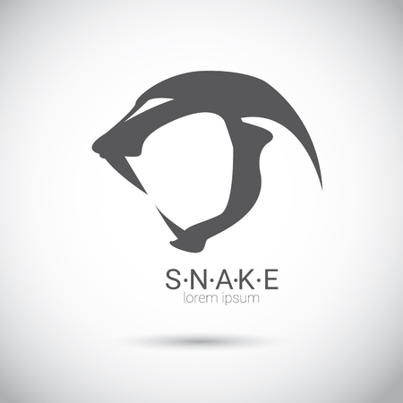 ophidian: vector snake simple black logo design element. danger snake icon. viper symbol Illustration