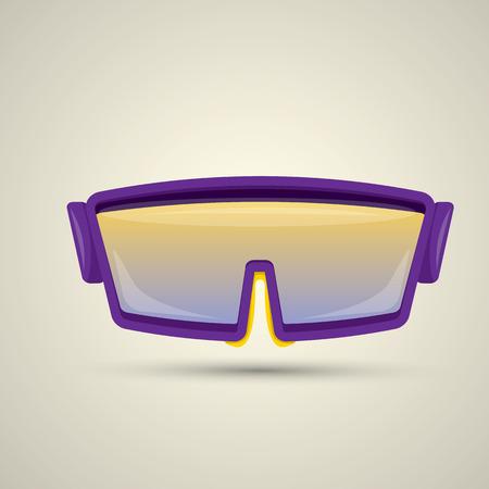 ski goggles: vector Ski goggles icon. vector snowboard mask icon