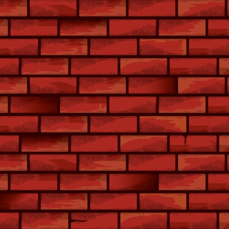 old red brick grunge wall vector background. grunge red brick wall seamless pattern vector backdrop or layout