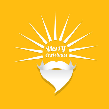 Santa claus with beard vector illustration .Christmas hipster poster for party or greeting card. Santa Hipster Claus. vector merry christmas art design background. Illustration