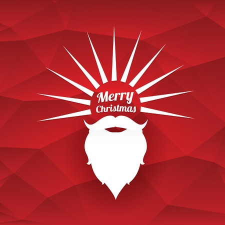 Santa claus with beard vector illustration .Christmas hipster poster for party or greeting card. Santa Hipster Claus. vector merry christmas art design background Illustration