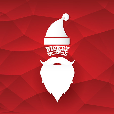 popular: Santa claus with beard vector illustration .Christmas hipster poster for party or greeting card. Santa Hipster Claus. vector merry christmas art design background Illustration