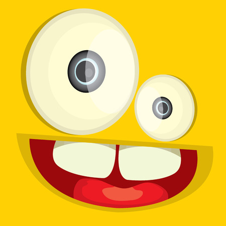 monster face vector illustration