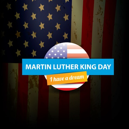 jr: vector Martin Luther King day us sticker or label
