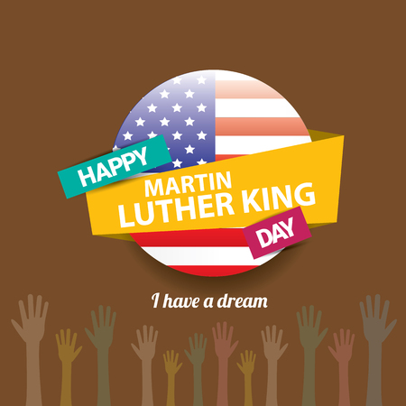civil rights: vector Martin Luther King day us sticker or label