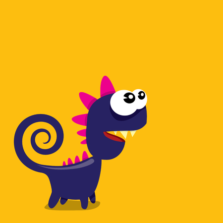 the centaur: Vector cartoon funny dragon. Cartoon Dinosaur.
