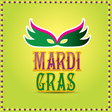 incognito: mardi gras vector background with mask and text