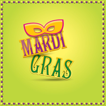 mardi gras vector background with mask and text