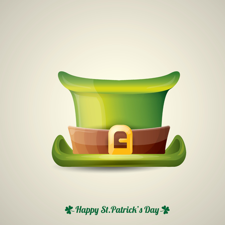 parade: vector saint patricks day poster with green hat Illustration