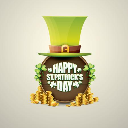 vector happy saint patricks day label