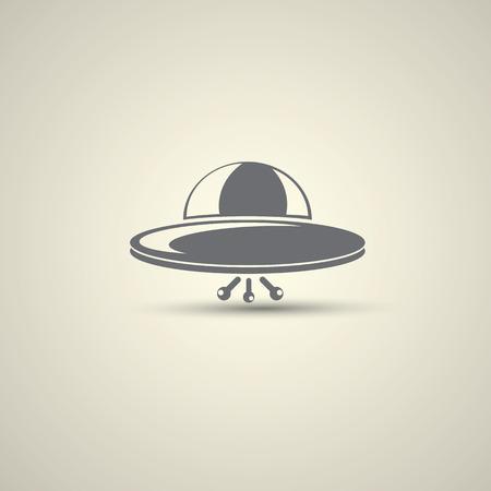 platillo volador: Ufo vector platillo volador icono Foto de archivo