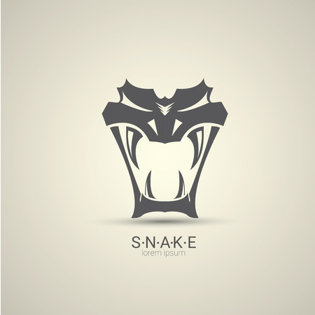 vector angry dangerous snake logo design 版權商用圖片 - 71907651