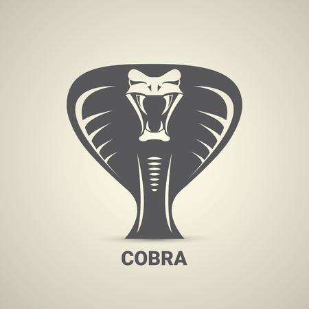 vector dangerous cobra snake icon Stock Photo