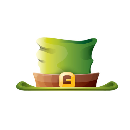 vector saint patricks day poster with green hat Illustration